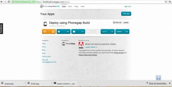 Phonegap build iOS