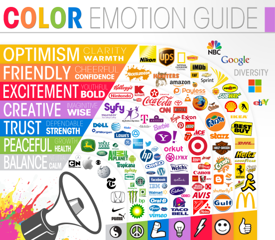 famous brands and colors